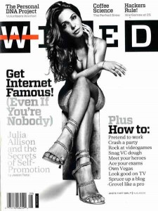 Julia Allison on the Wired Cover